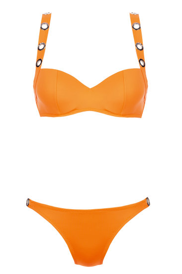 LACY swimmwear  orange - SHE swimsuits
