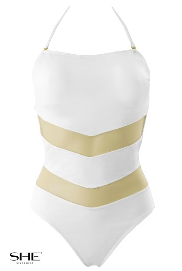 ELMIRA swimsuit white - SHE swimsuits