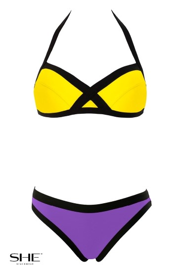 GABY swimsuit yellow - SHE swimsuits