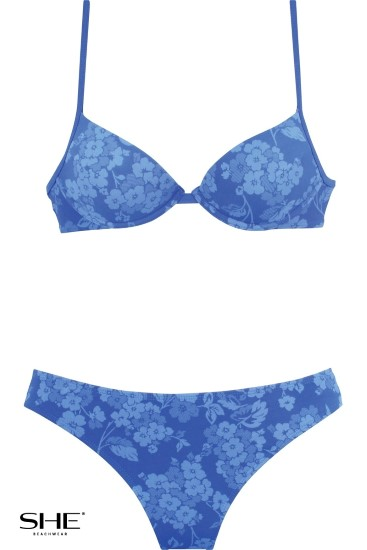 LAURA swimsuit cerulean - SHE swimsuits