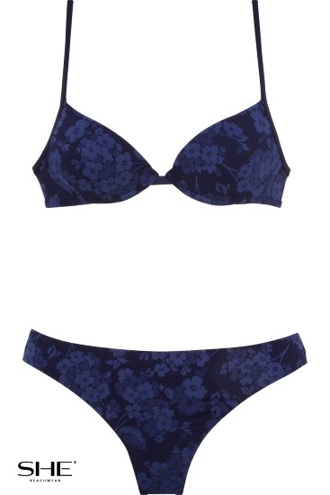 LAURA swimsuit navy blue - SHE swimsuits