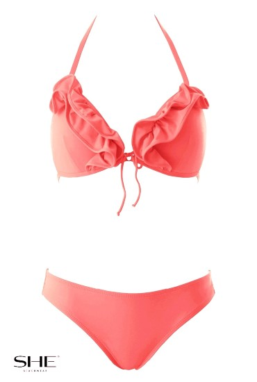NIKKA swimsuit Salmon pink - SHE swimsuits