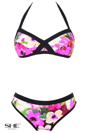 STACY swimsuit pink - SHE swimsuits