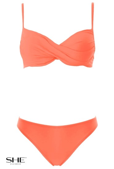 STELLA swimsuit Salmon pink - SHE swimsuits