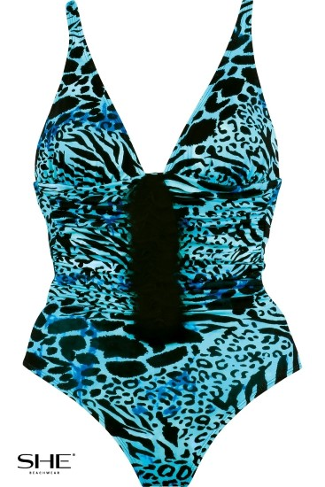 YVES swimsuit cerulean - SHE swimsuits