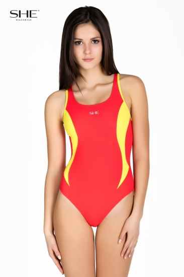 Swimsuit P08 (1CD60) Red - SHE swimsuits