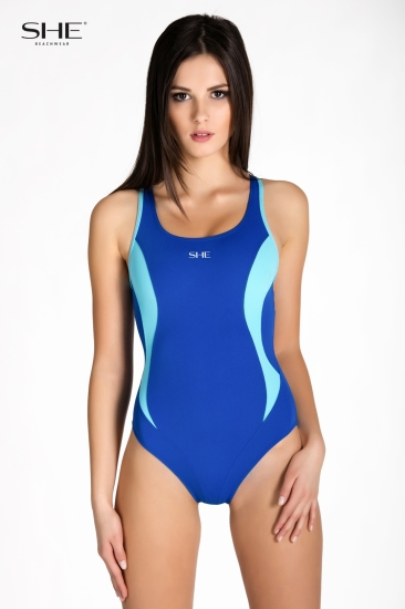 Swimsuit P08 (1CD60) medium blue - SHE swimsuits