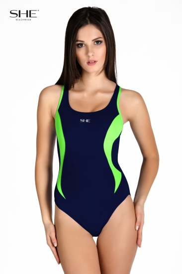 Swimsuit P08 (1CD60) navy blue - SHE swimsuits