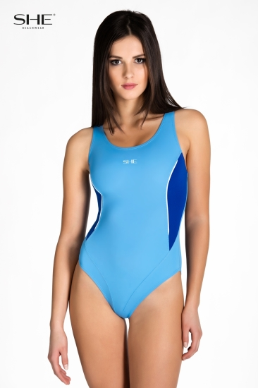 Swimsuit P09 (1CD44) medium blue - SHE swimsuits