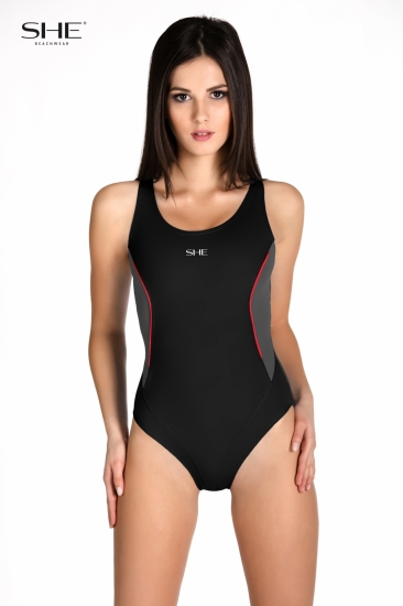 Swimsuit P09 (1CD44) black - SHE swimsuits