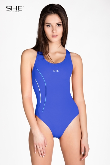 Swimsuit P12 (1CD43) medium blue - SHE swimsuits