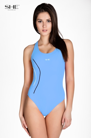 Swimsuit P12 (1CD43) cerulean - SHE swimsuits