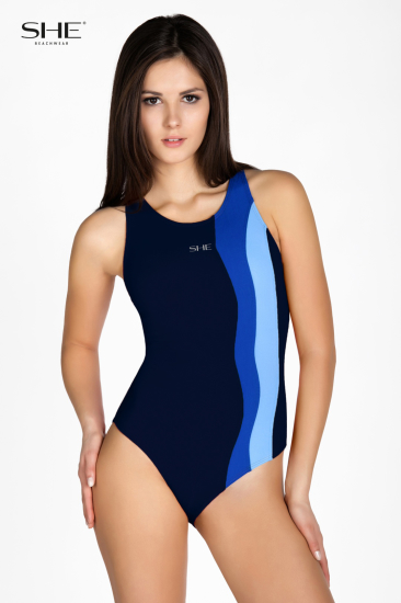Swimsuit P17 (1CD51) navy blue - SHE swimsuits